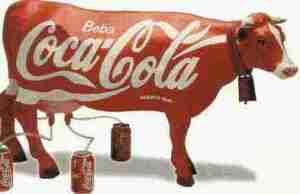 coca-cola cow
